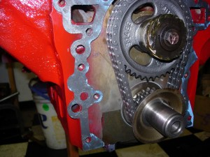 27.A very thin layer of silicone sealant was used on the timing cover gasket. Use too much and the excess could fill an oil passage, and that would be bad.