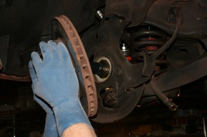 17.The front install started by removing the original disc brakes. The SSBC kits work on drum or disc spindles, so no worries there.