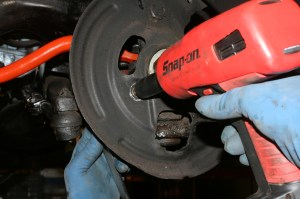 18.The impact and a back up wrench make quick work of the steering linkages.