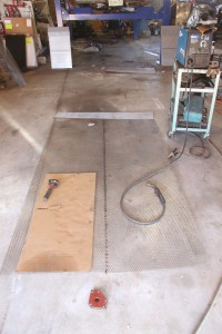 4. We sectioned three pieces together, with the long joint in the center, and one joint at the tail. We used a MillerMatic 211 MIG welder cranked all the way down.