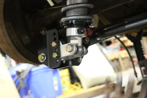 38. Each shock was bolted onto the lower mount, the bolts just snugged up.