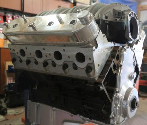 37. The assembled engine is now ready for install into the car. There are vehicle-specific options, such as the accessory drive and headers that will need to be selected as well.