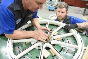All wooden wheel orders require that the customer send in an existing wheel from their project vehicle. This allows Coker Tire to accurately measure the spokes, the felloes, and determine the hub diameter.