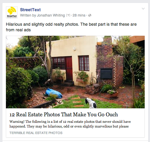StreetText FB post example