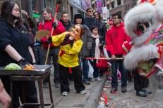 Chinese new year celebrations in Boston Chinatown. Photograph by Shraddha Gupta.