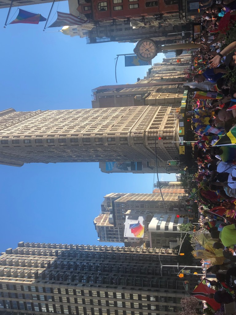 Crowd at the New York City Pride Parade 2019 at the Flatiron Building