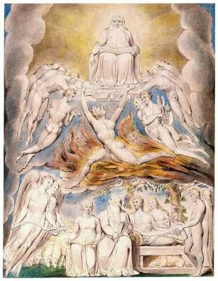 william-blake-satan-before-god-throne-painting-drawing