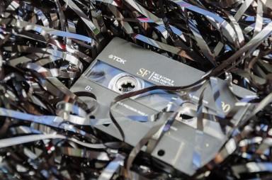 taśmy z kasety
