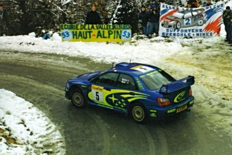 Бёрнс на ралли Монте-Карло 2001