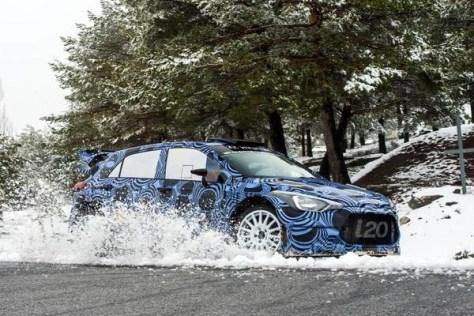 Hyundai i20 WRC 2015 - тесты в Испании