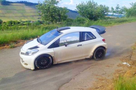 Toyota Yaris WRC- тесты в Германии 2015