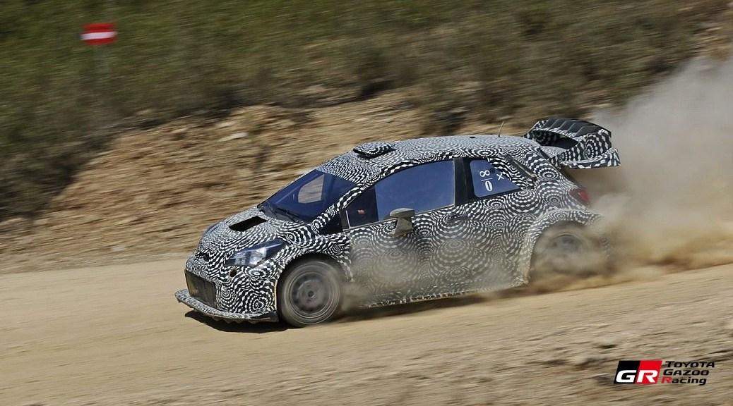 Toyota Yaris WRC - тесты на юге Португалии