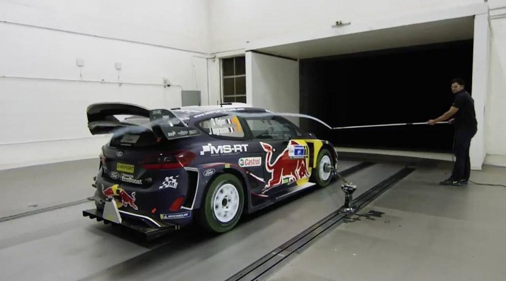 Ford Fiesta WRC в аэродинамической трубе Ford Performance