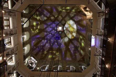 Lichtschau in der Kuppel der Mole, Kinomuseum