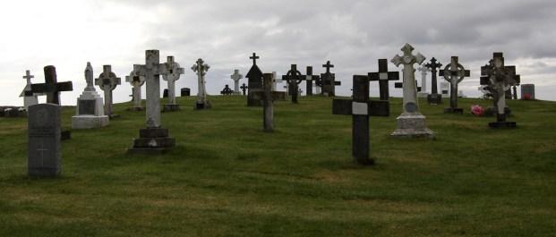 Friedhof von Eriskay (dahinter natürlich das Meer)