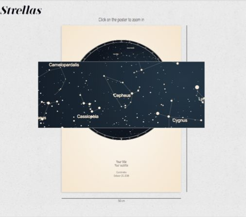 create your own star map with strellas