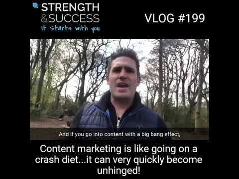 VLOG 199 –  How Much Content Should We Be Doing?