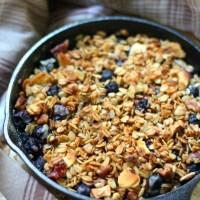 Skillet Blueberry Crisp For Two (Gluten-Free, Vegan)