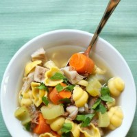 Vegan + Gluten-Free Chicken Noodle Soup (Allergy-Free, No Beans)