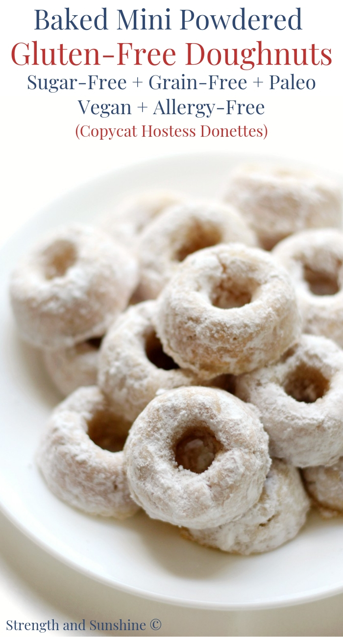 Gluten Free Baked Powdered Sugar Doughnuts