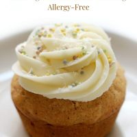 Gluten-Free Carrot Cake Cupcakes with Vegan Cream Cheese Frosting (Allergy-Free)