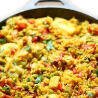Easy Spanish Vegan Paella (Gluten-Free, Allergy-Free)