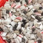 Peppermint Bark Puppy Chow Muddy Buddies Vegan Gluten Free