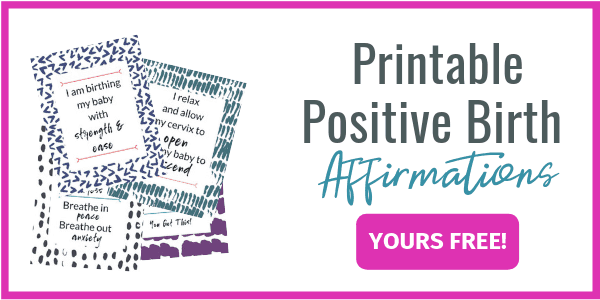 Printable Positive Birth Affirmations