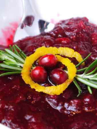 Homemade Cranberry Sauce: It's like apples and oranges.