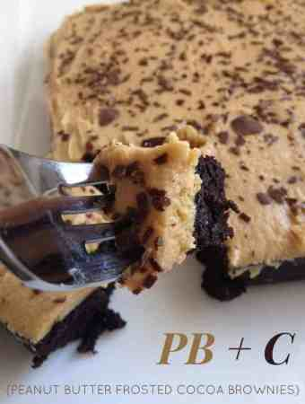 Peanut Butter Frosted Chocolate Brownies