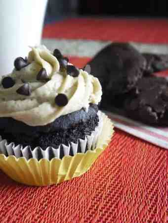 Chocolate Avocado Cupcakes with Cookie Dough Frosting