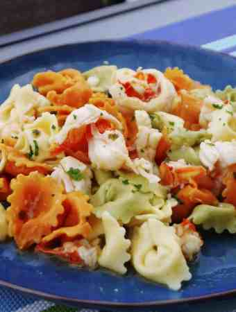 Lobster Scampi with Cheese Tortellini