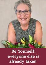 Lianda saying Be Yourself, everyone else is taken