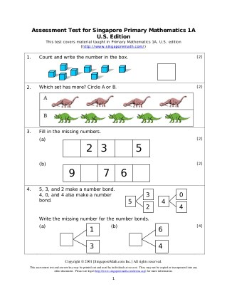 Free Elementary Math Placement Tests - Stress Free Math for Kids
