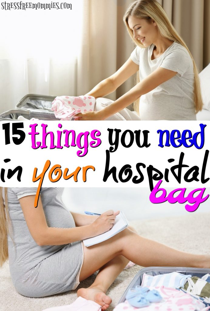 The simple hospital check list. Find out what to pack in your hospital bag with no overpacking, no fuss, just essentials. Hospital bag check list for mom.