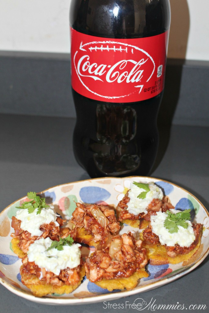 tostones with bbq chicken