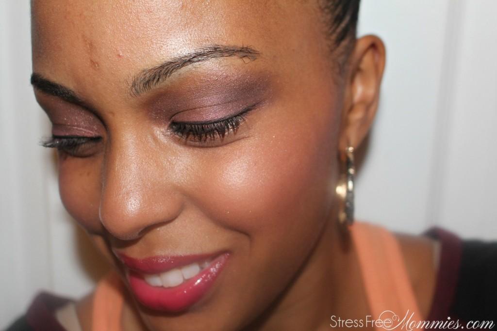 fall makeup smoky purple eyes