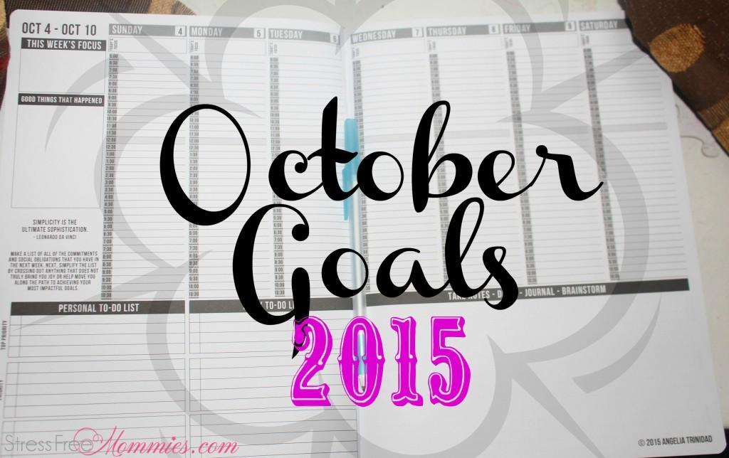 October Goals 2015