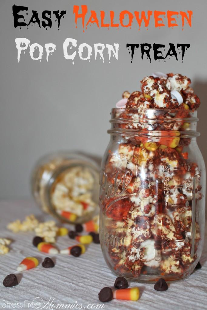 pop corn with chocolate