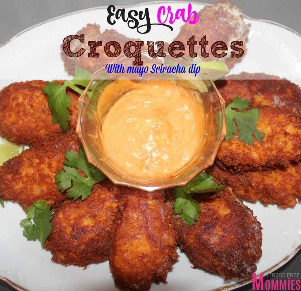 potato and crab croquettes