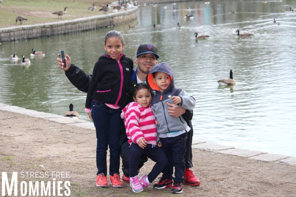 daddy and kids