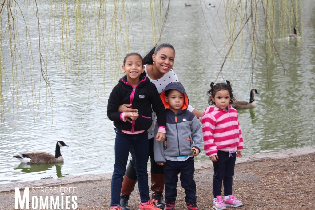 mommy and kids at the park