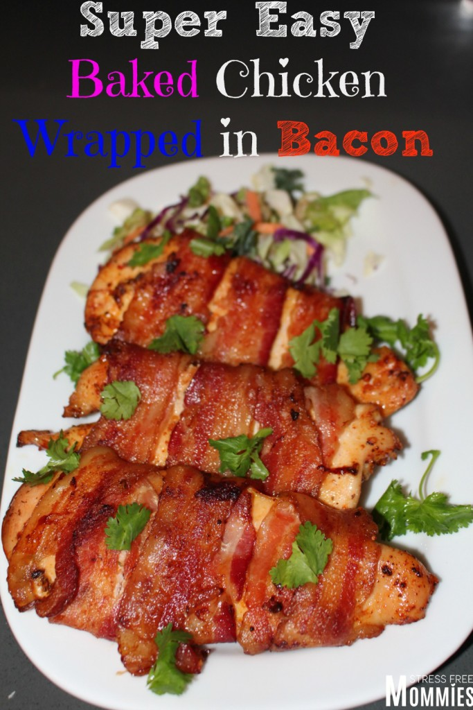 baked chicken wrapped in bacon