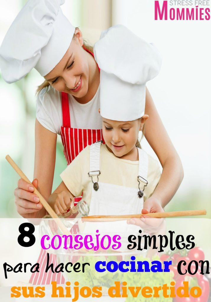 8 consejos simples para hacer cocinar con sus hijos divertido