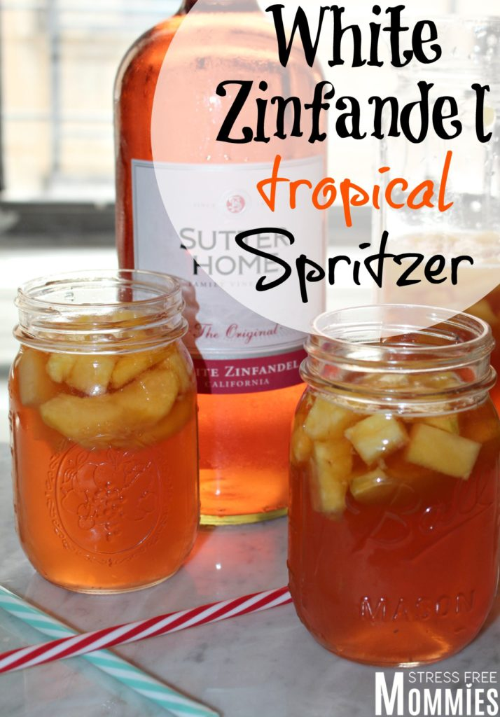 white zinfandel tropical spritzer