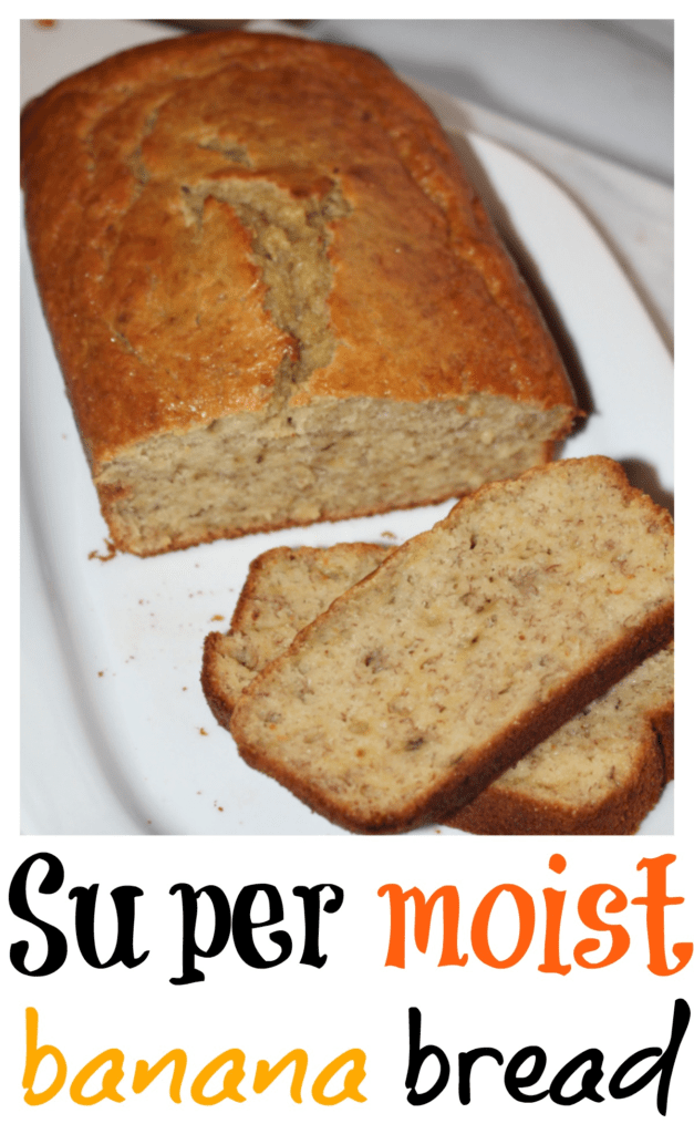 The most delicious and moist banana bread you'll ever taste. Easy and simple banana bread recipe. How to make super moist banana bread. The best banana bread recipe ever.