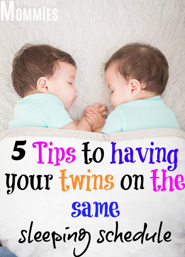 5 tips to having your twins on the same sleeping schedual