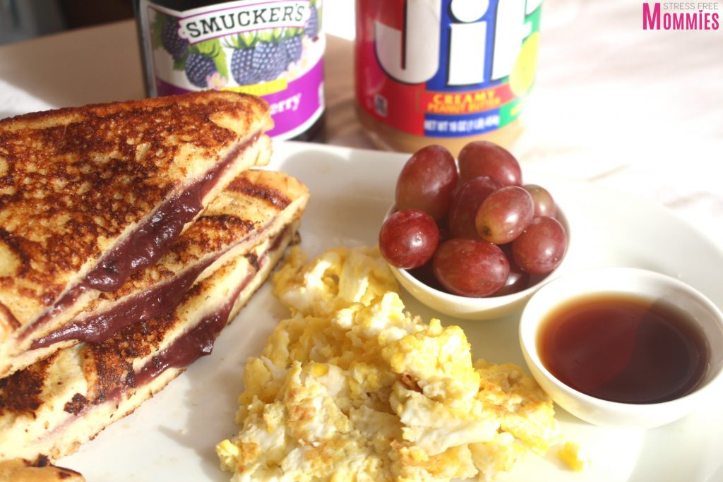 peanut butter & jelly stuffed french toast