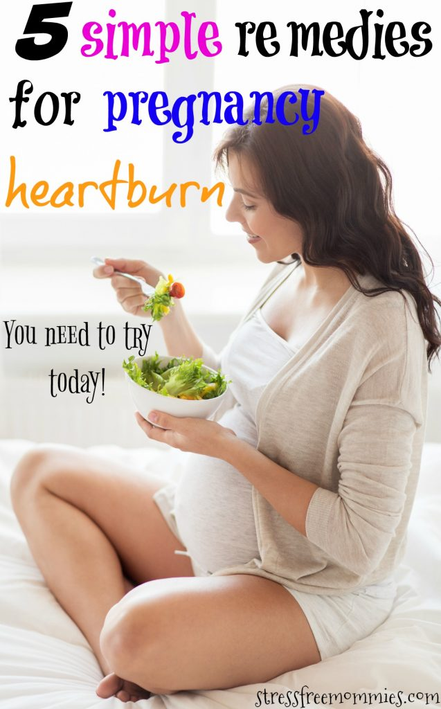 5 simple remedies for pregnancy heartburn- You will experience a lot of things during your pregnancy, from morning sickness to swollen feet to the dreaded heartburn. Yes, having heartburn during your pregnancy it's not easy and probably one of the worst things. These natural remedies will help you alleviate or even eliminate heartburn completely. It worked for me and I'm sure it will work for you too! Read these guaranteed ways to eliminate heartburn today :) Pin now!