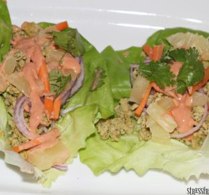 pineapple chicken lettuce wraps
